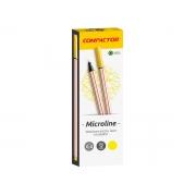 Microline 0.4 mm Amarelo, Caixa C/ 12 Unidades, Compactor