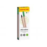 Microline 0.4 mm Verde Claro, Caixa C/ 12 Unidades, Compactor