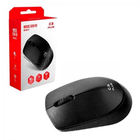 Mouse C3Tech C3Plus M-W17BK, Wireless, 1000 DPI, Preto