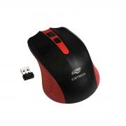 Mouse C3Tech M-W20RD, Wireless, 1000 DPI, Vermelho e Preto