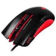 Mouse Gamer C3Tech Stellers MG-200BRD 3200 DPI 7 Botões Preto/Vermelho USB