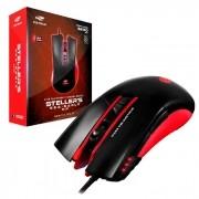 Mouse Gamer C3Tech Stellers MG-200BRD, USB, 3200 DPI, 7 Botões, Preto e Vermelho