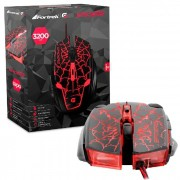 Mouse Gamer Fortrek Spider II OM705 USB Preto e Vermelho 3200 DPI