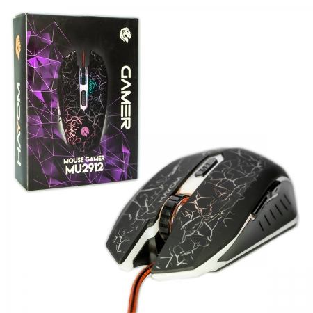 Mouse Gamer Hayom MU2912, USB, LED RGB, 2400 DPI
