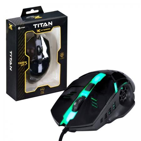 Mouse Gamer Vinik VX Gaming Titan, USB, RGB, 1600DPI