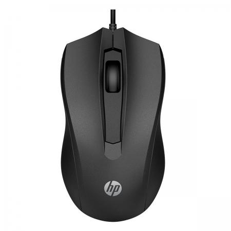 Mouse HP 100 USB 1600DPI Preto
