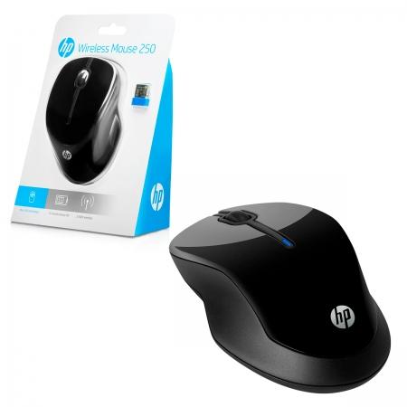 Mouse HP 250, Wireless, 1600 DPI, Preto