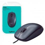 Mouse Logitech M100 USB, 1000DPI, Preto