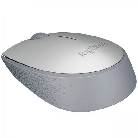 Mouse Logitech M170, Prata, Wireless