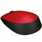 Mouse Logitech M170, Wireless, Vermelho e Preto