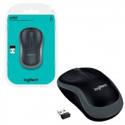 Mouse Logitech M185 Wireless Cinza 1000DPI 2.4GHz