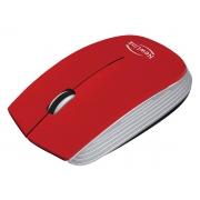 Mouse Newlink Optimus MO221, Wireless, 1600DPI, Vermelho e Prata
