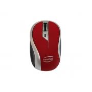 Mouse Newlink Wave MO112, Wireless, 1600 DPI, Vermelho e Cinza