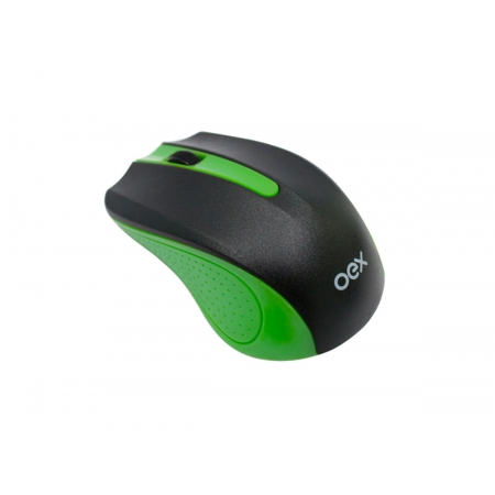 Mouse OEX Experience MS404, Wireless, 1200 DPI, Preto e Verde