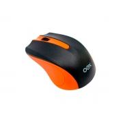 Mouse OEX Experience MS404, Wireless, 1200DPI, Preto e Laranja