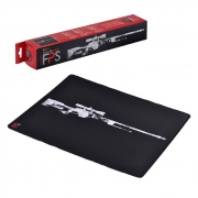 Mouse Pad Gamer PCYes FPS SNIPER, Antiderrapante, Estilo Speed, 500x400x3mm - 34675