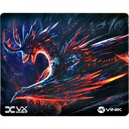 Mouse Pad Gamer Vinik VX Gaming Dragon, C/ Base Emborrachada 320x270x2mm - 34242