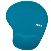 Mouse Pad Gel OEX Confort Turquesa MP200