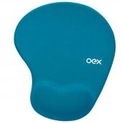 Mouse Pad Gel OEX Confort Turquesa MP200