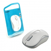 Mouse Rapoo M10 Plus, Wireless 2.4 GHz, 1000 DPI, Branco - RA008