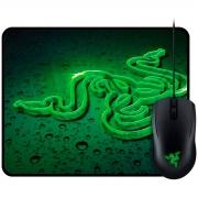 Mouse Razer Abyssus 2000 DPI Ambidestro + Mouse Pad Goliathus Speed Terra