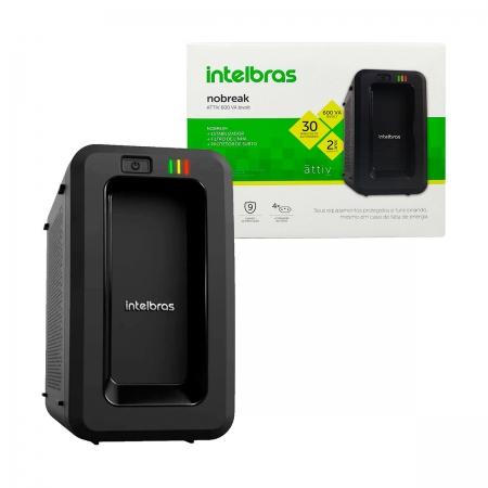 Nobreak Intelbras ATTIV 600VA, Entrada Bivolt, Saída 115V/120V, 4 Tomadas - 9 Níveis de Proteção