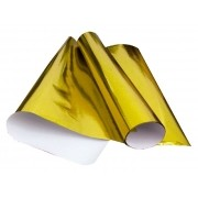 Papel Cartolina Laminada, 48 x 60 Cm, Pacote C/ 20 Folhas, VMP - Ouro