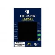 Papel Filicolor Classics A4, 180 g, 50 Folhas, Filipaper - Preto - 03418