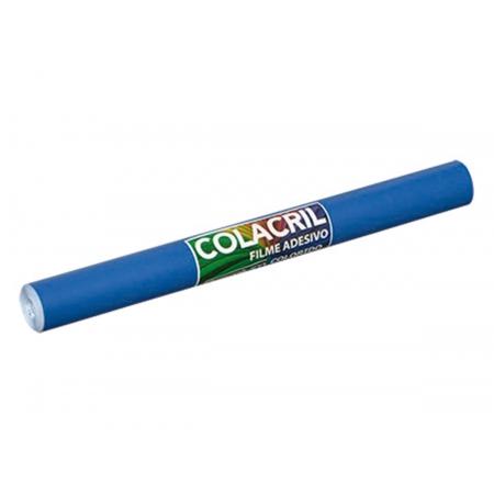 Papel Filme Adesivo, 45 cm x 10 m, Colacril - Azul Escuro - 301A11C81C