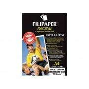 Papel InkJet Glossy A4, 150 g, 50 Folhas, Filipaper - 02553