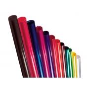 Papel Poli Transparente, 85 x 100 cm, Contém 50 Unidades, Cromus - Vermelho - 032410
