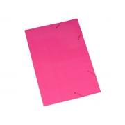 Pasta Cartão Duplex, Com Abas e Elástico, Pacote Com 20 Unidades, Polycart - Rosa - 2004RS