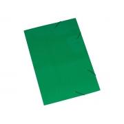 Pasta Cartão Duplex, Com Abas e Elástico, Pacote Com 20 Unidades, Polycart - Verde - 2004VE