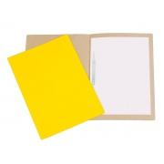 Pasta Cartão Duplex, Com Grampo Plástico, Pacote Com 20 Unidades, Polycart - Amarelo - 1026AM