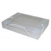 Pasta Com Aba e Elástico Ofício 55 mm Cristal, Pacote c/ 10 Unidades - ACP - 1025CR