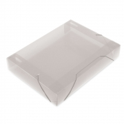 Pasta PP 55mm, Pct. c/ 10 Unidades - Polibras - Cristal - 1607/17