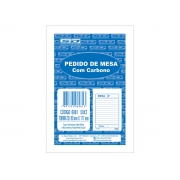 Pedido de Mesa Com Carbono, 50 x 2 Vias, Contém 20 Unidades, São Domingos - 6981