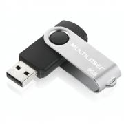 Pen Drive Multilaser Twist USB 2.0 8GB PD587 Preto