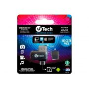 Pendrive U-Tech 16GB Otg 3 Em 1 PD16GB-OTG