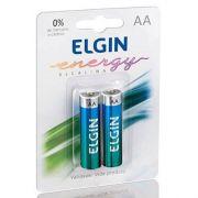 Pilha Alcalina Elgin AA LR6