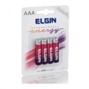Pilha Recarregável Ni-MH AAA-1000mAh, Blister Com 4 Unidades, Elgin - 82171