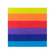 Placa de E.V.A. Estampado Arco Íris Dupla Face 2.0 mm, 40 x 60 cm, Pacote C/ 5 Folhas - Make+