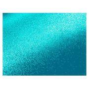 Placa de E.V.A. Glitter 2.0 mm, 40 x 60 cm, Pacote c/ 5 Folhas - Make+ - Azul Celeste
