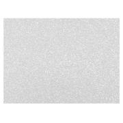 Placa de E.V.A. Glitter 2.0 mm, 40 x 60 Cm, Pacote c/ 5 Folhas - Make+ - Branco