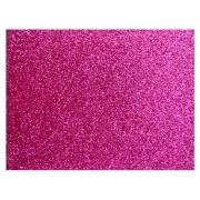 Placa de E.V.A. Glitter 2.0 mm, 40 x 60 Cm, Pacote c/ 5 Folhas - Make+ - Pink