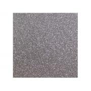 Placa de E.V.A. Glitter 2.0 mm, 40 x 60 cm, Pacote c/ 5 Folhas, Make+ - Prata