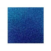Placa de E.V.A. Glitter 2.0mm, 40 x 60 cm, Pacote c/ 5 Folhas - Make+ - Azul Escuro