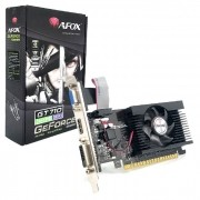 Placa de Vídeo Afox GeForce GT710 2GB, DDR3, 64 Bits, Low Profile, HDMI/DVI/VGA - AF710-2048D3L5-V3