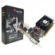 Placa de Vídeo Afox GeForce GT730 2GB, DDR3, 128 Bits, Low Profile, HDMI/DVI/VGA - AF730-2048D3L4-V1