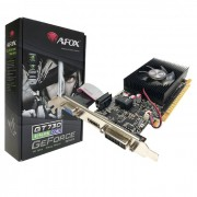 Placa de Vídeo Afox GeForce GT730 4GB, DDR3, 128 Bits, Low Profile, HDMI/DVI/VGA - AF730-4096D3L5